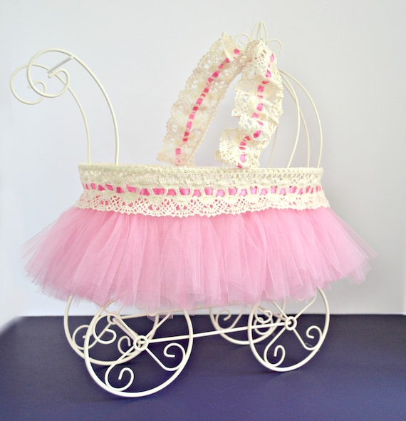 Baby Carriage Baby Shower Centerpiece Ivory Wire Baby Pram Etsy