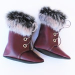 Wine + Fur Combat Boots