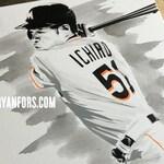 Ichiro Suzuki - Miami Marlins Painting