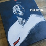 """Kirby Puckett """"Smile"""" Stencil Painting"""