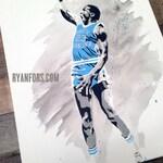 Michael Jordan UNC Stencil Painting