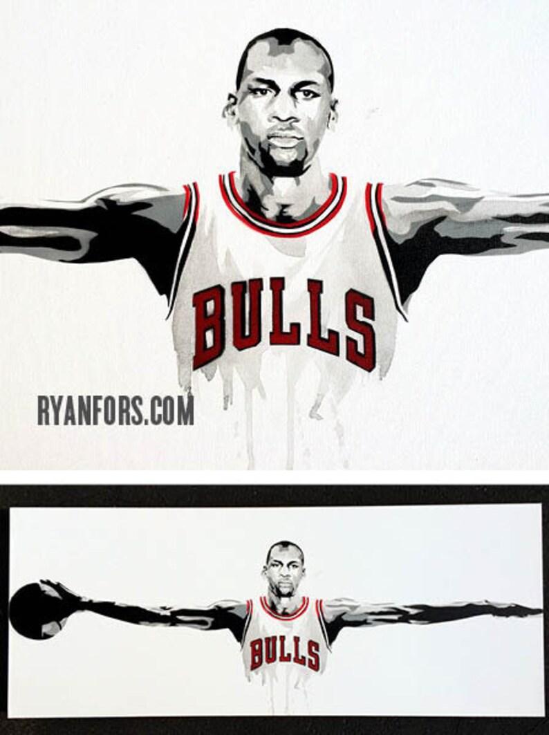 272c3e1b40a3 Michael Jordan Wings Chicago Bulls Painting