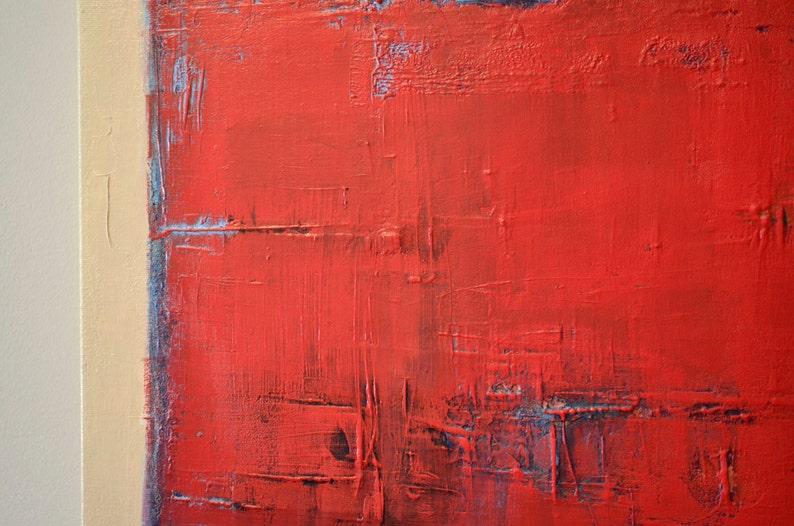 La Peinture Rouge 28 X 22 La Peinture Bleu Rouge Etsy