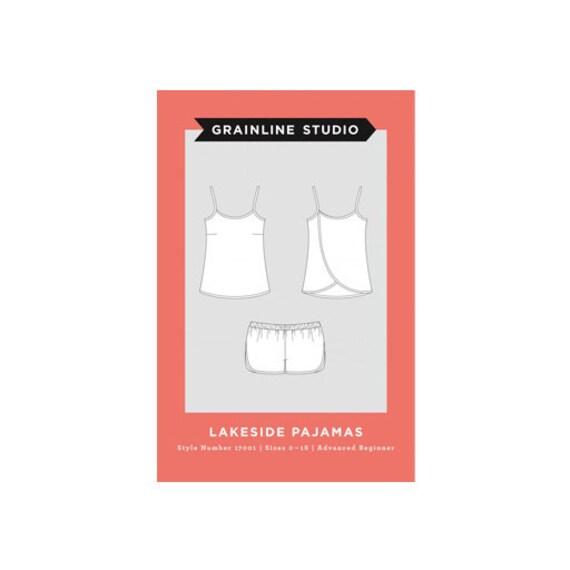 Holzvierkanten Studio Lakeside Pyjama Papier Nähen Muster   Etsy