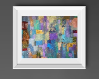 """Abstract Original 18"""" x 24"""" Painting, Acrylic Wall Art on Paper, Textured Modern Fine Art Contemporary Home Decor"""
