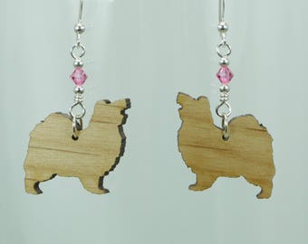 Cute Papillon Laser Cut Earrings with Swarovski Crystals