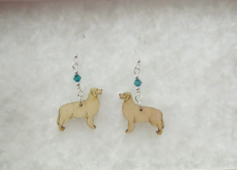 a3b24fdce Golden Retriever Earrings with Swarovski Crystal   Etsy