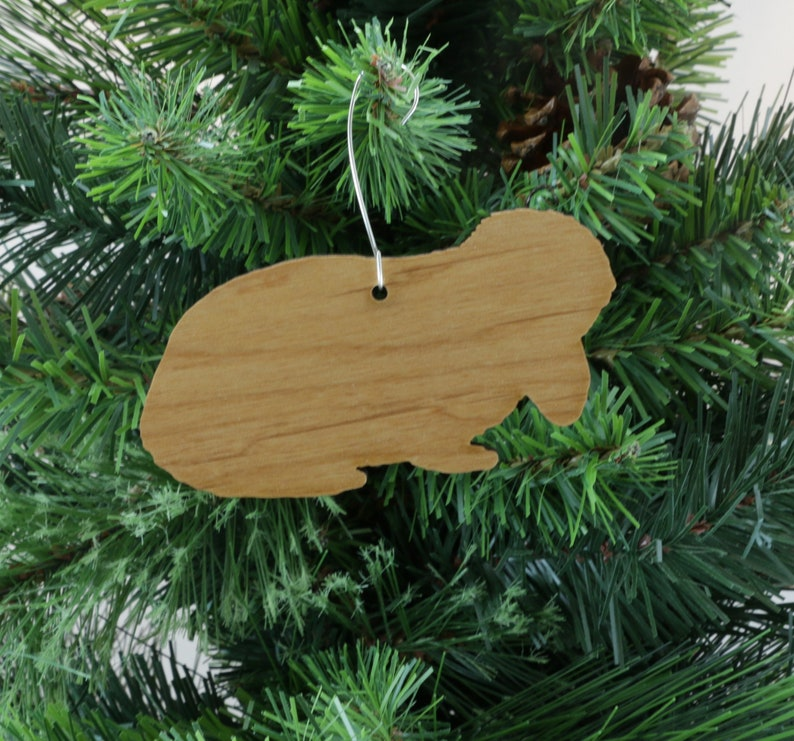 Lop Ear Rabbit Bunny Ornament In Wood Or Mirror Acrylic Customizable With Name