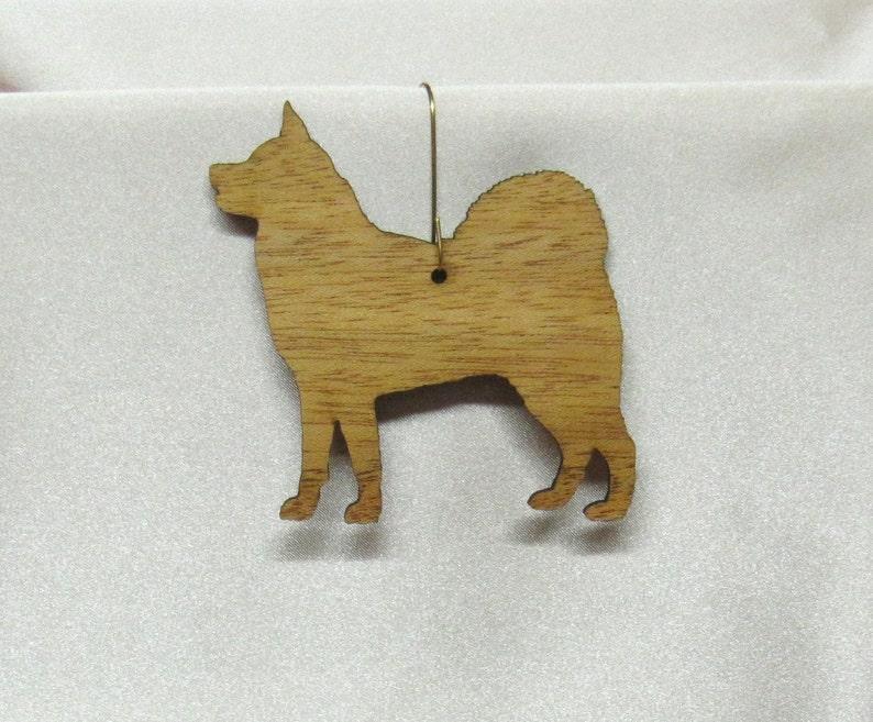 Akita Ornament in Wood or Mirror Acrylic Customizable with Name