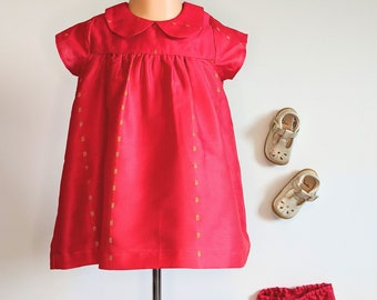 Pink Baby Dress and Bloomers  Cute outfit for Annaprashan  Perfect newborn gift