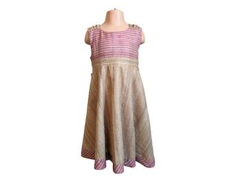 Girl's Blush Raw Silk party dress 4-5y  Flower girl  Wedding outfit for girls  Christmas dress  Bridesmaid  Birthday 