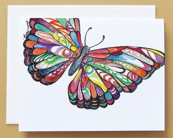 Butterfly Watercolor Card