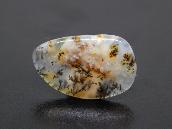 Dendritic Agate Cabochon 34 x 22 x 7 mm Natural Gemstone Cabochon Oval Agate Oval Dendritic Stone Agate Gemstone Oval Cabochon