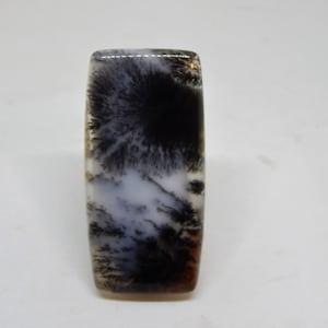 dendritic landscape agate cabochon shape picture moss agate cabochon merlinite protective stone large pendant montana agate