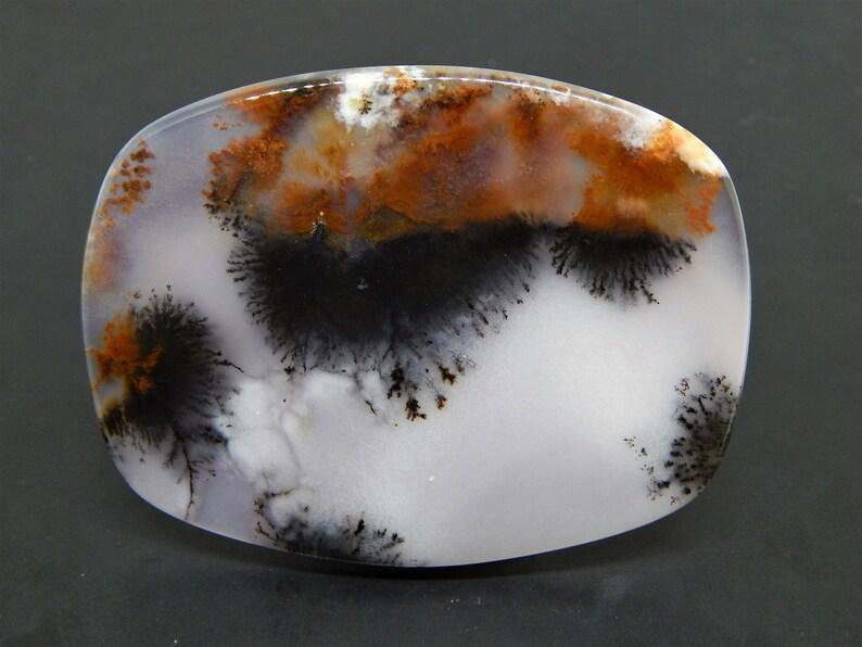 Dendritic landscape agate cabochon shape picture moss agate dendritic opal merlinite rectangular stone cabochon
