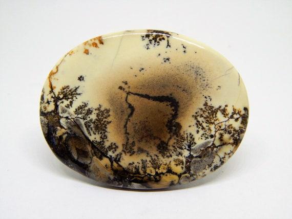 Dendritic agate cabochon shape 47 x 27 mm landscape agate cabochon merlinite cabochon picture agate dendritic opal cabochon moss agate