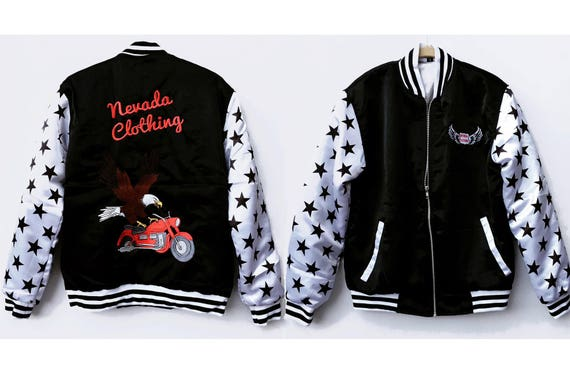Nevada Satin Bomber Jacket Zoey98he