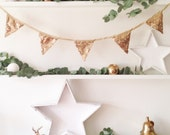 Antique Gold Sequin Bunting, Sequin Bunting for Wedding, Birthday, Celebration, Gold Bunting, Sequin Bunting, Gold Sequin Bunting