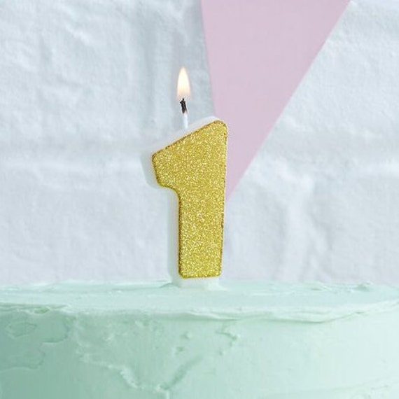 Gold Glitter Candles Numbers 0 9 Birthday