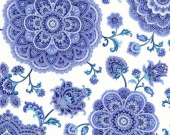 Lavender, Teal Medallions, Metallic, Dutchess, Chong-A-Hwang, Timeless Treasures (By YARD)~