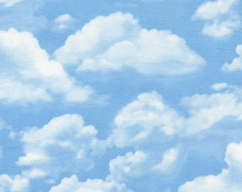 Billowy Clouds, Sky Blue, Beach Haven, George McCartney, Timeless Treasures, C2188 SKY  (By YARD)~