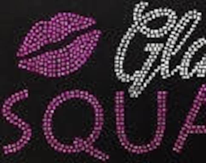 Women Rhinestone Top Glam Squad, Birthday Shirt, bling shirt women, Women birthday Squad shirts