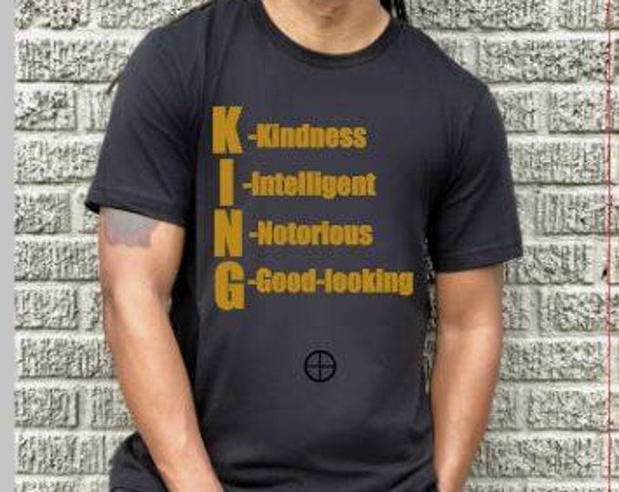 King Men T shirt,daddy gift,boyfriend gift Men Tops, Men tshirt, Dad Shirt