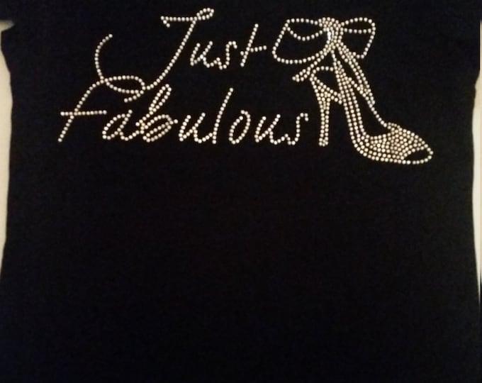 Women Bling Top, Just Fabulous Rhinestone shirt, Diva bling shirt, Fabulous Diva Shirt, Women fabulous tops, Free shipping