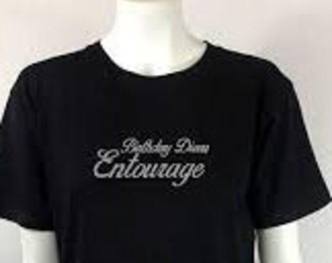 Entourage Birthday,Birthday Girl Shirt / Birthday party shirt  Women bling shirt