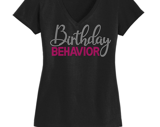 Birthday diva WOMEN BIRTHDAY SHIRT bling rhinestone ,Birthday women top,