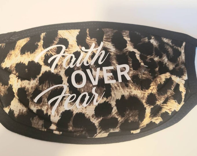 Leopard Print face mask, Social Distancing, Mask,Quarantine Face Mask,
