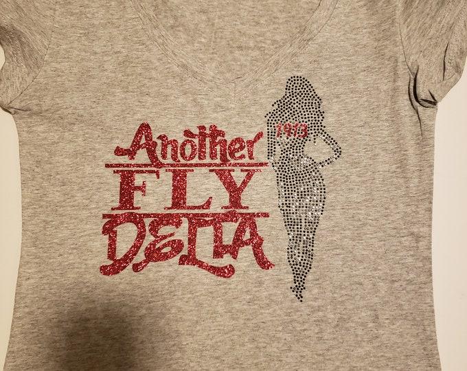 Greek Sorority Delta Women Bling  and Glitter shirt