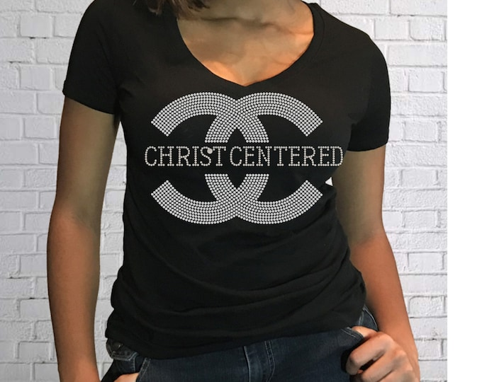 Christian bling women shirt,  Church girl, Christian shirt, Church shirt,Women Rhinestone Tops