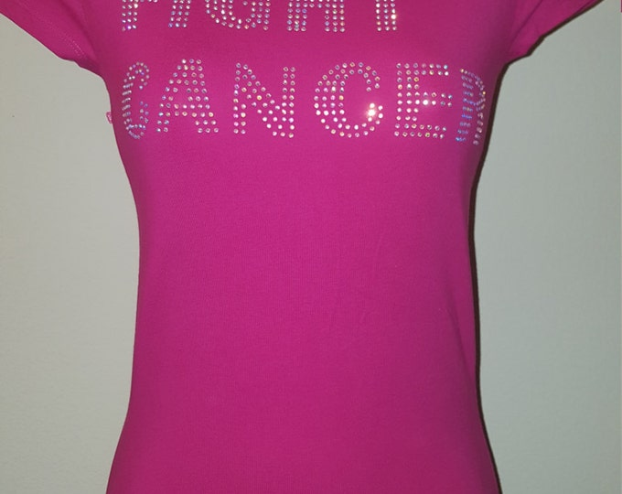 Cancer fight Cancer bling,Breast Cancer awareness women shirt