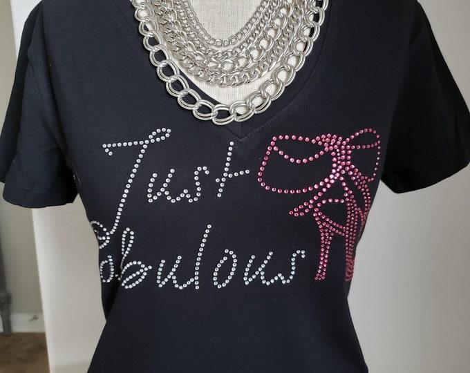 Women Rhinestone shirt Fabulous, Black Queen shirt, Natural hair women shirt, Melanin poppin,Women Rhinestone Tops Free shipping
