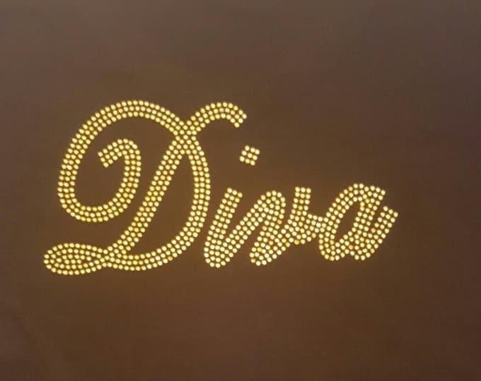 Diva Bling women shirt, women diva shirt, women tops, Women Rhinestone bling shirt