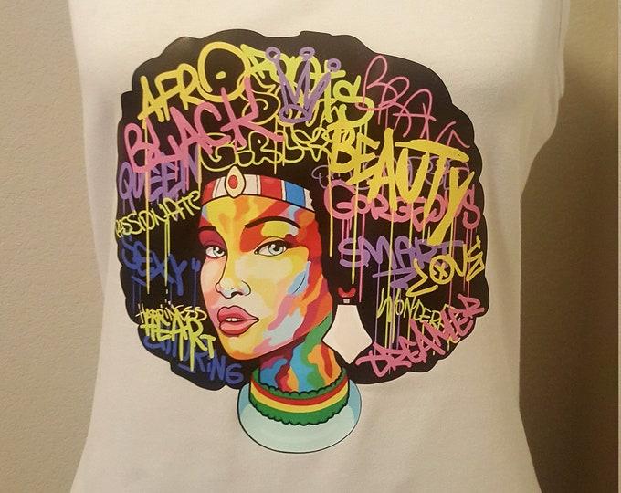 Afro Natural Hair Beauty vinyl women Shirt, melanin shirt, black beauty shirt, Melanin popin shirt, Queen beauty shirt