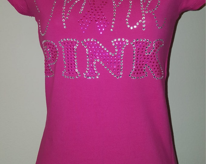 Cancer bling women shirt Think pink shirt