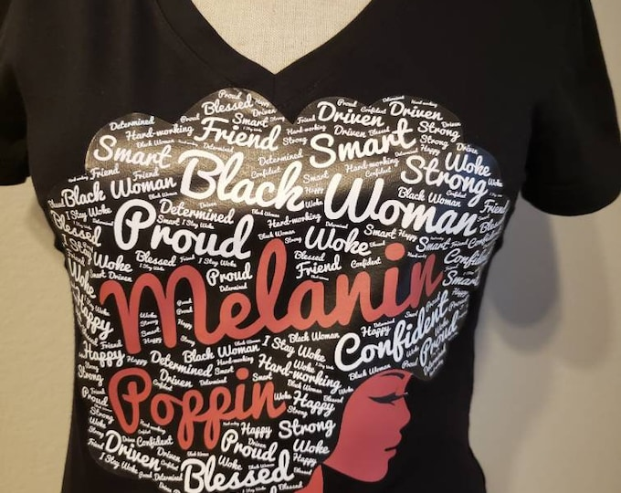 Black Girl Magic women top,Afro T-shirt,Melanin Poppin, Afro graphic T shirts women tops Free Shipping