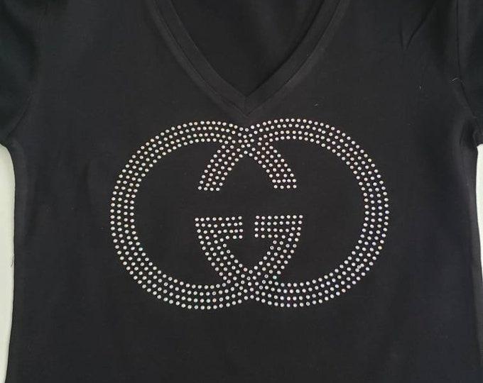 Inspired Women bling shirt, Women Rhinestone top,  Women Top, Bling women Top