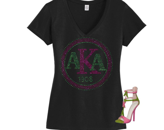Greek Delta Bling shirt with lady, Sorority bling, AKA, Bling afro women shirt, AKA Bling shirt