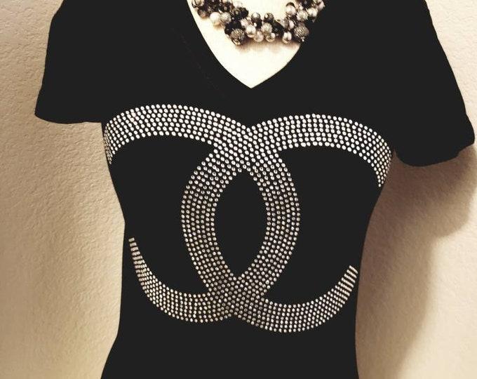 Inspired Designer bling women shirt,  Church girl, Christian shirt, Church shirt,Women Rhinestone Tops
