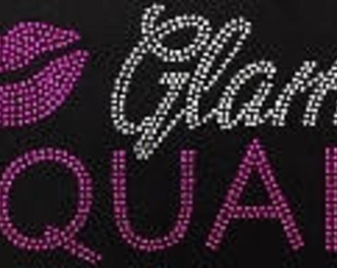 Glam Squad Birthday  Women bling shirt