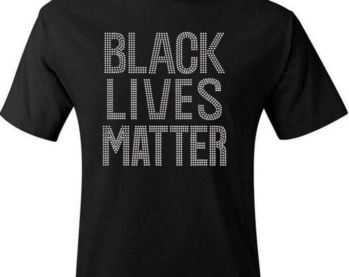 Bling women shirt,  Black Lives Matter, Black Queen shirt, Melanin shirt,Women Rhinestone Tops