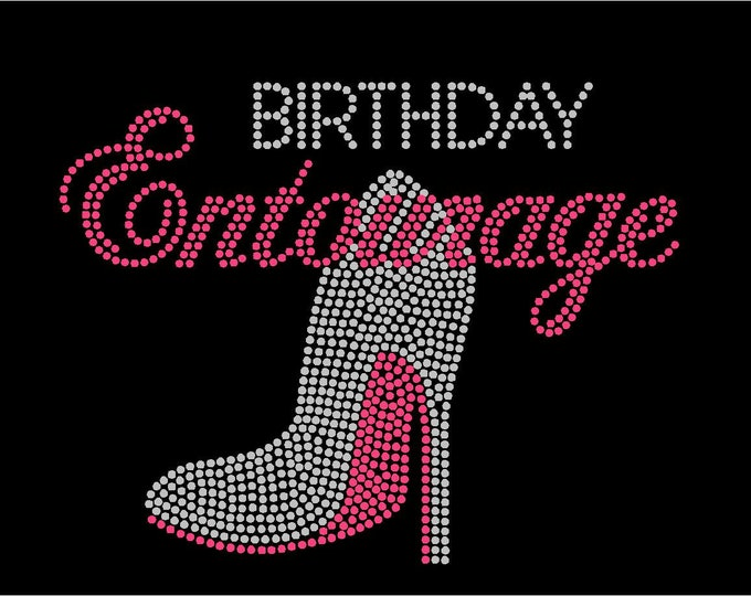 Entourage Birthday,  Women bling shirt, Birthday shirt, 40th, 50th, 60th, Bling birthday shirts, Birthday Squad