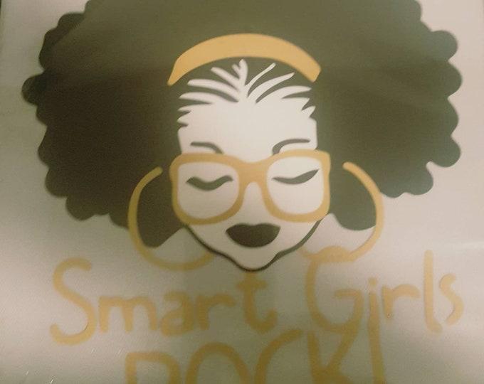 Afro Natural Hair Smart Girl Rock vinyl women Shirt