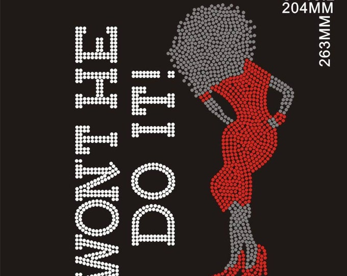 Want He Do It Christian Bling shirt with lady with red