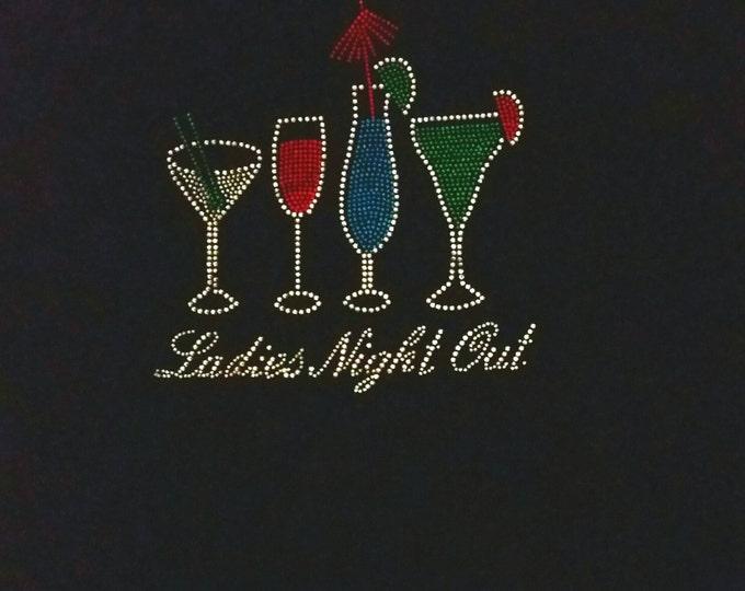 Girl's Night Out bling women rhinestone shirt