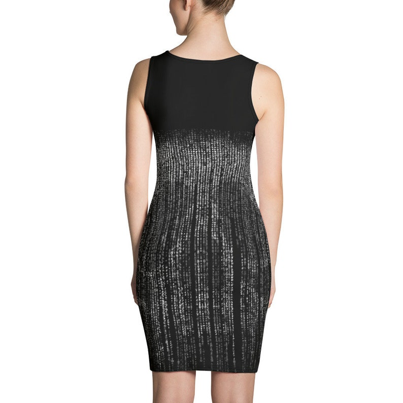 Encrypted Message Cyberpunk Sublimation Cut /& Sew Dress