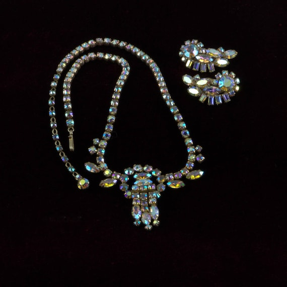 Sherman Necklace, Sherman Earrings, Signed Sherman